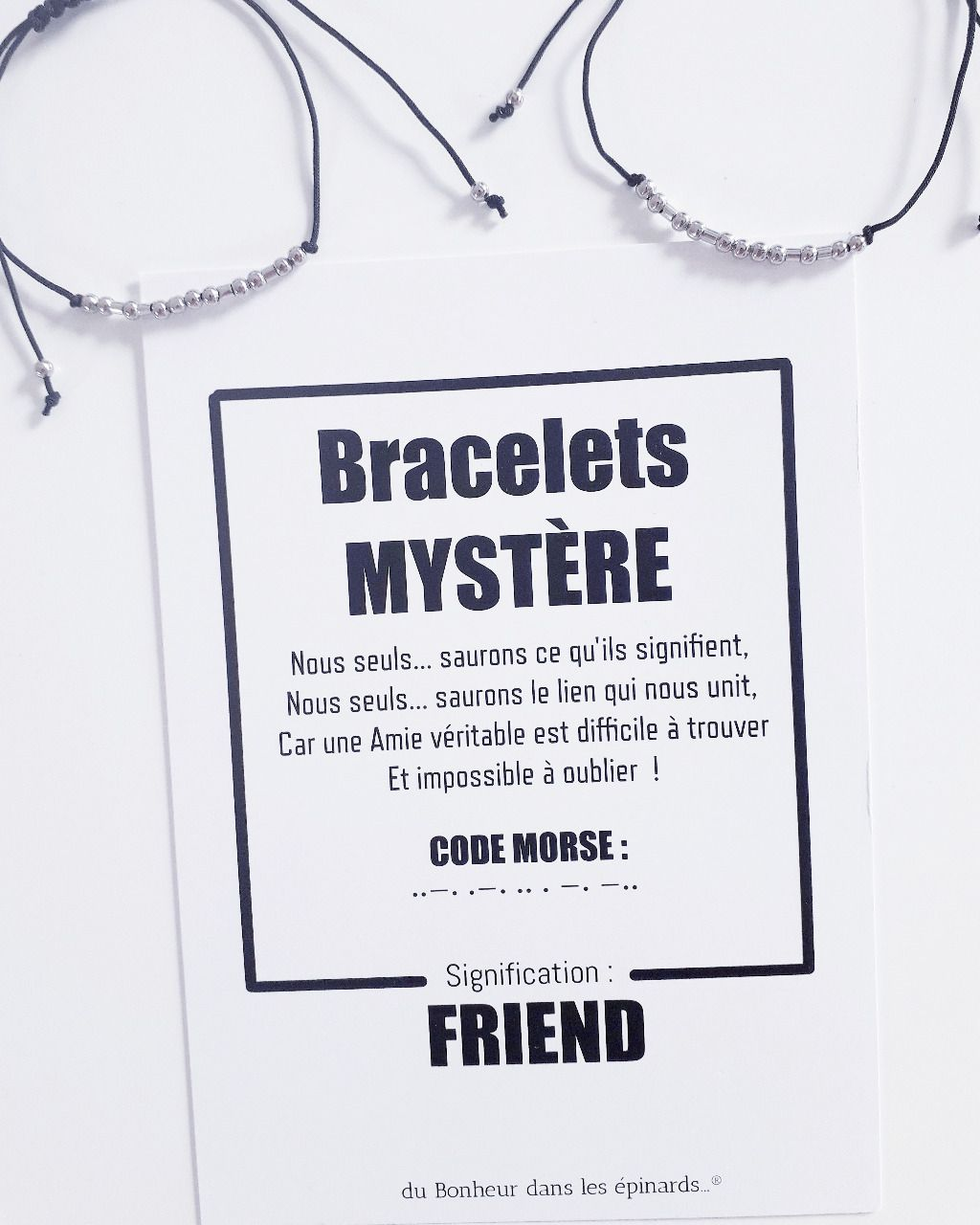 CARTE FRIEND + 2 BRACELETS MORSE