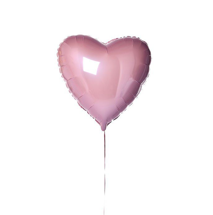 BALLON COEUR ROSE + CARTE MESSAGE