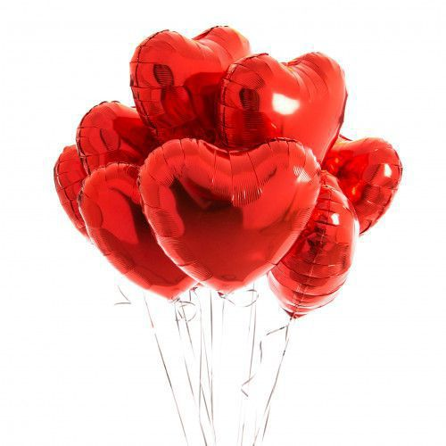 BOUQUET 3 BALLONS-BIJOU®  ROUGE+CARTE MESSAGE